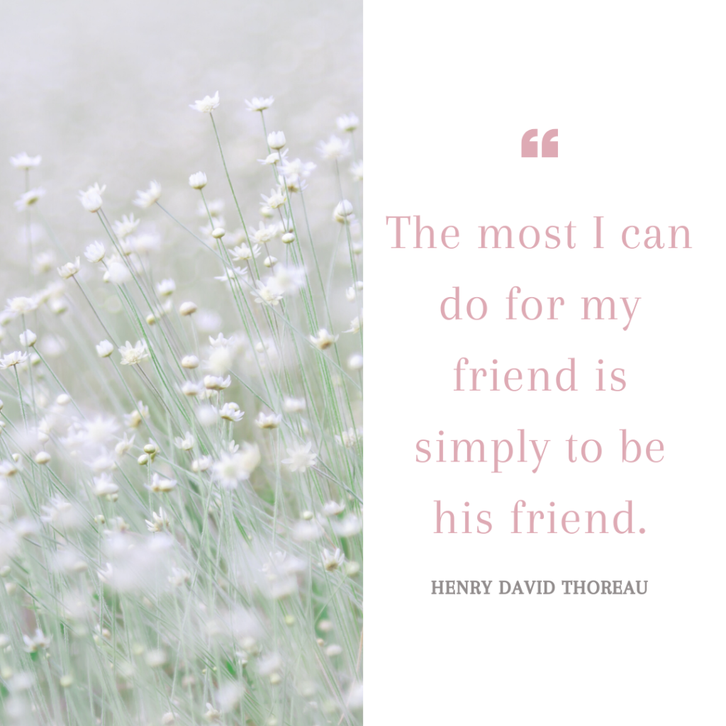 The most I can do for my friend is simply to be his friend.