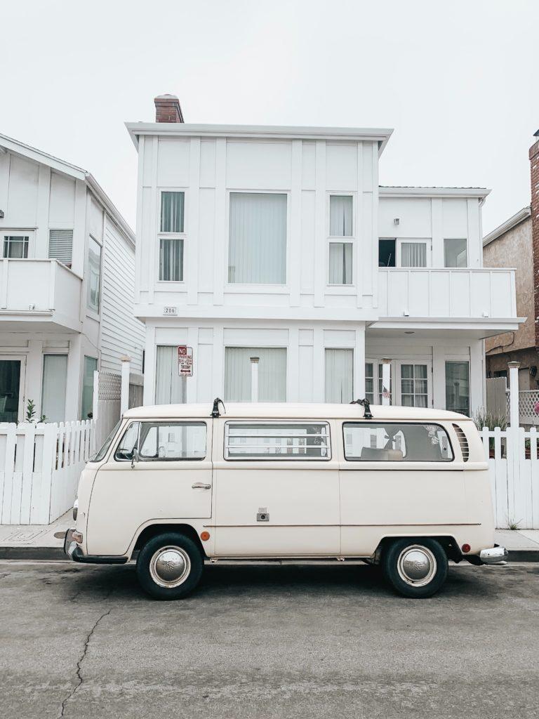 White van that you might take on a road trip.