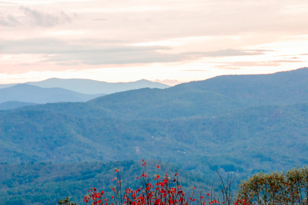 A beautiful sunset behind the Blue Ridge Mountains, giving you motivation to keep going even when life is hard.