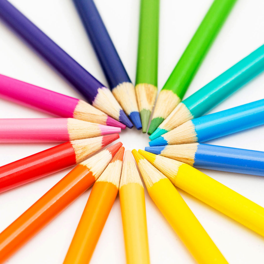 Colored Pencils like you would keep in a car