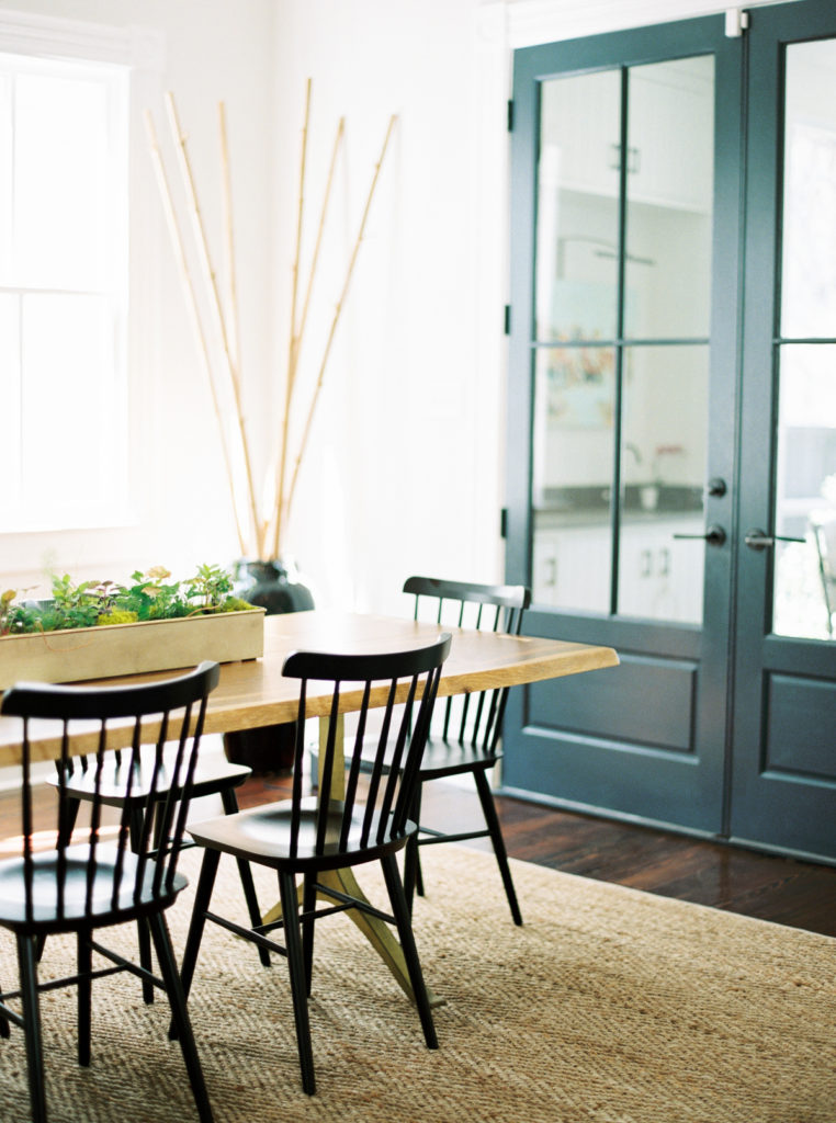 A view of a lovely dining room that could easily be used as a homeschooling space.