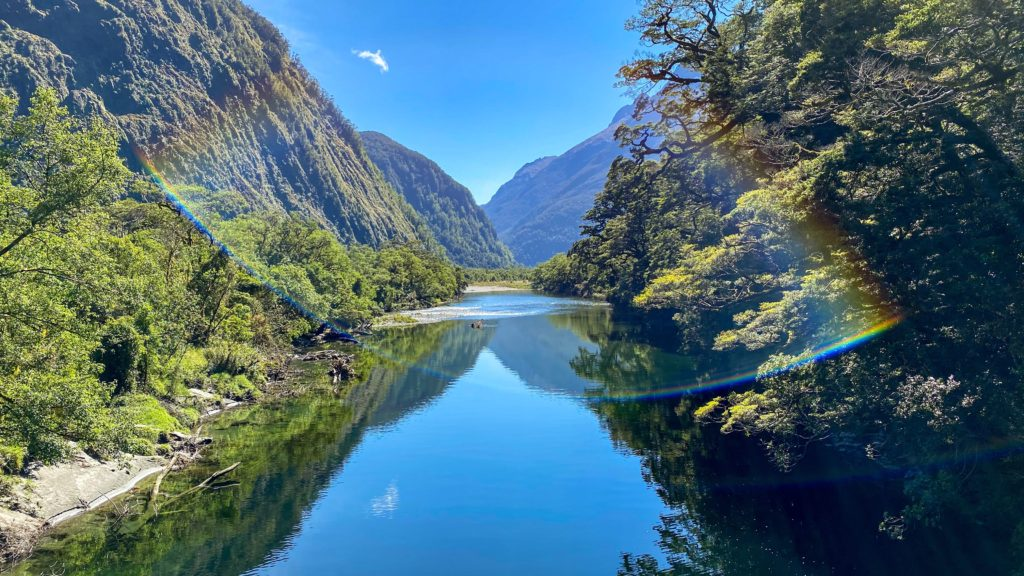 A picture of the incredible Milford Track in Fiordland National Park, New Zealand.