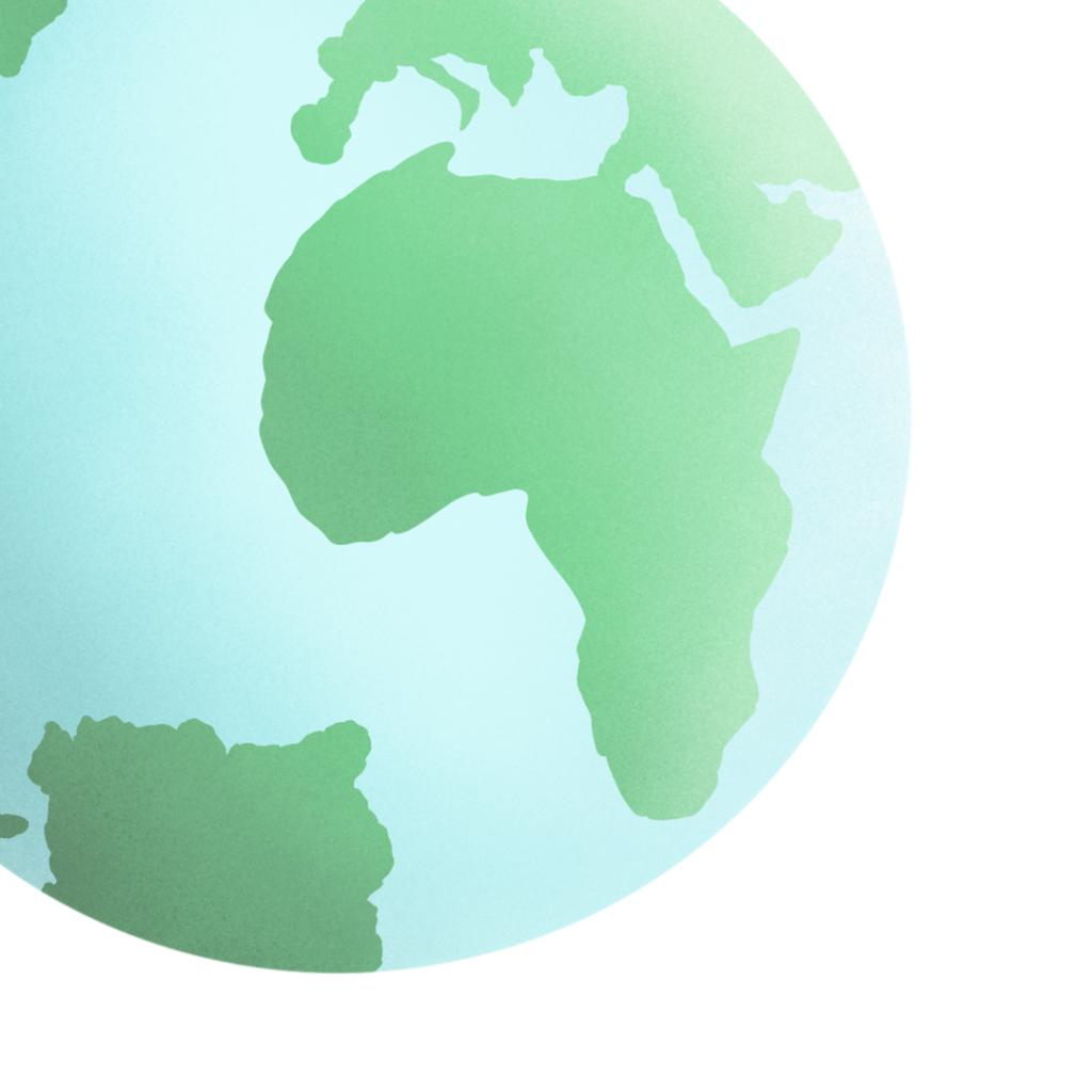 A beautiful hand-drawn globe representing Adventures Around the World.