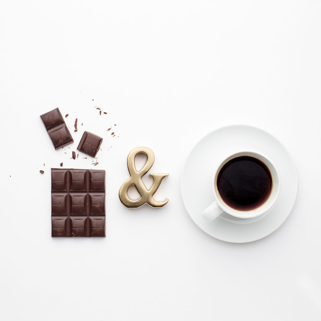 A picture of chocolate and coffee, showing how well they go together, especially while you're frustrated.