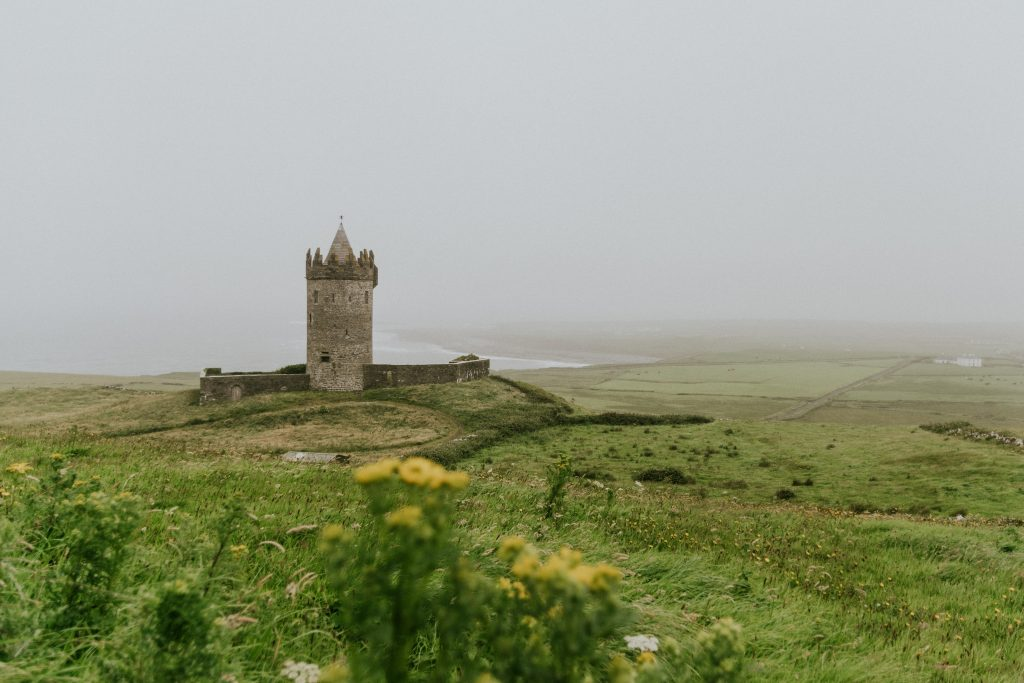 A castle set in the beautiful Irish countryside.