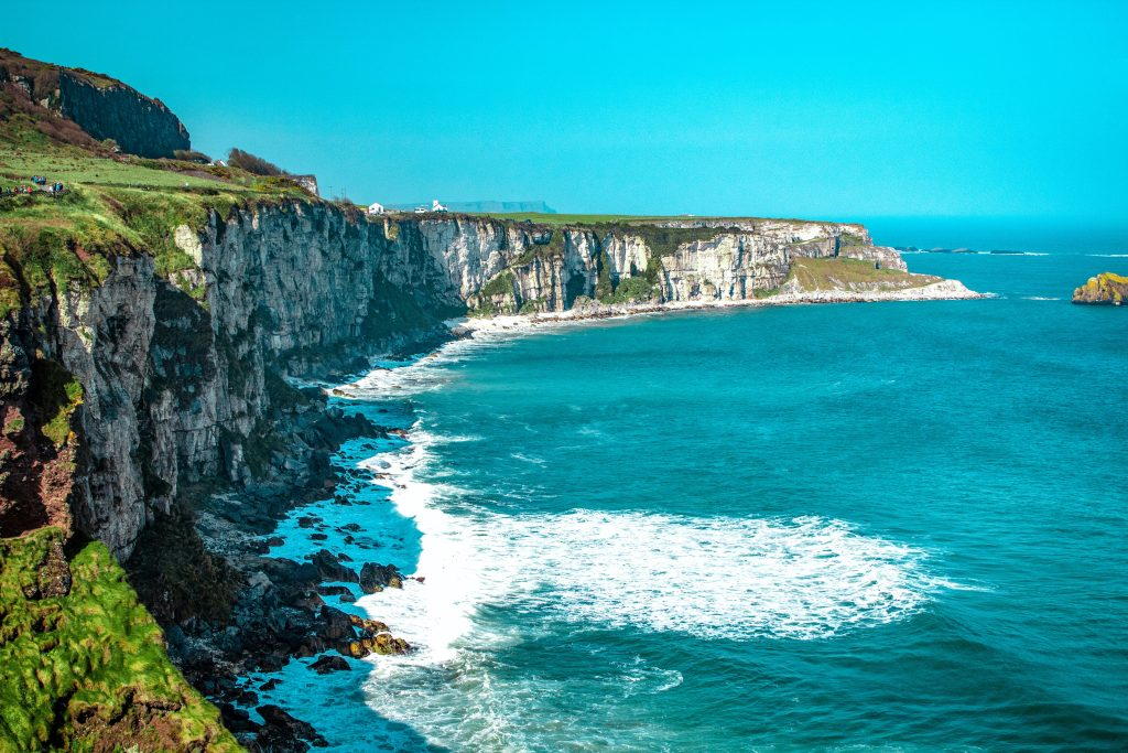 The cliffs along the coast of Ireland where St Patrick lives and served.