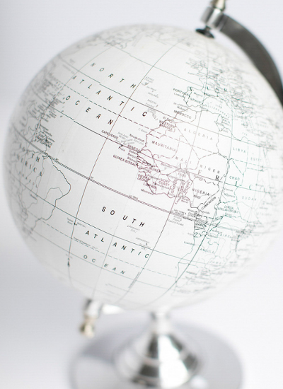 A picture of a globe, showing that the only thing you need to add to Adventures Around the World is a globe.